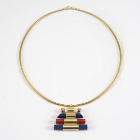 (Deutsch) Art Déco Halskette mit Anhänger