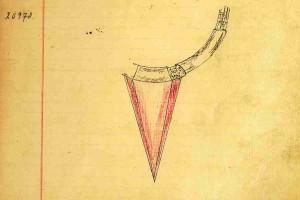 Design von 1933 aus dem Musterbuch X, S. 140 von 1933