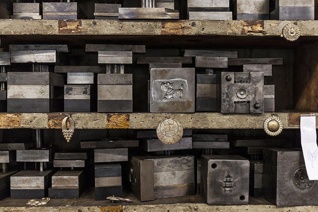 Press- und Prägeformen zur Schmuckproduktion im Industriedenkmal Jakob Bengel, Foto: Manuel Ocaña